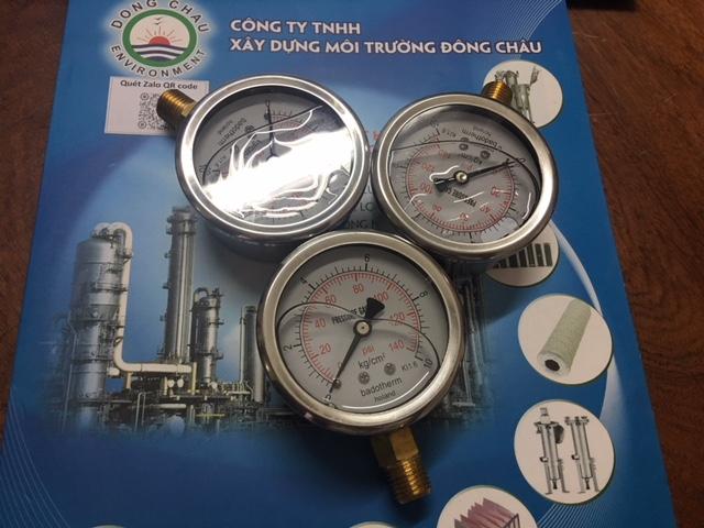 đồng hồ đo áp bình inox lọc cặn