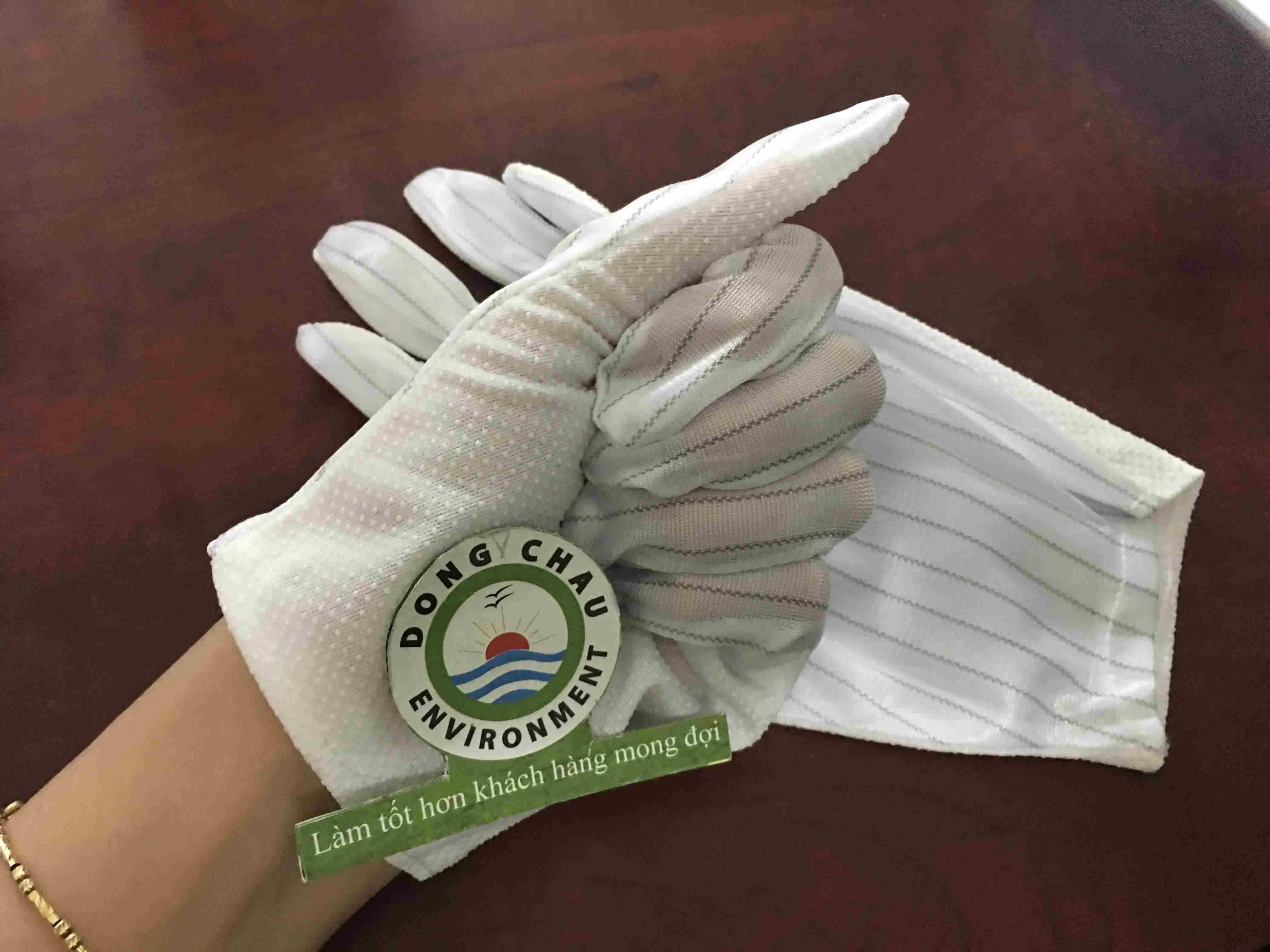 Găng tay vải phòng sạch chống tĩnh điện