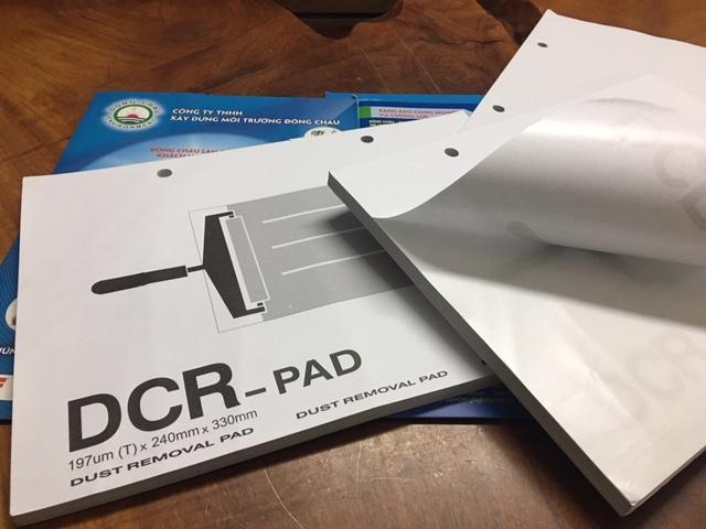 Giấy dính bụi phòng sạch DCR Pad cho con lăn
