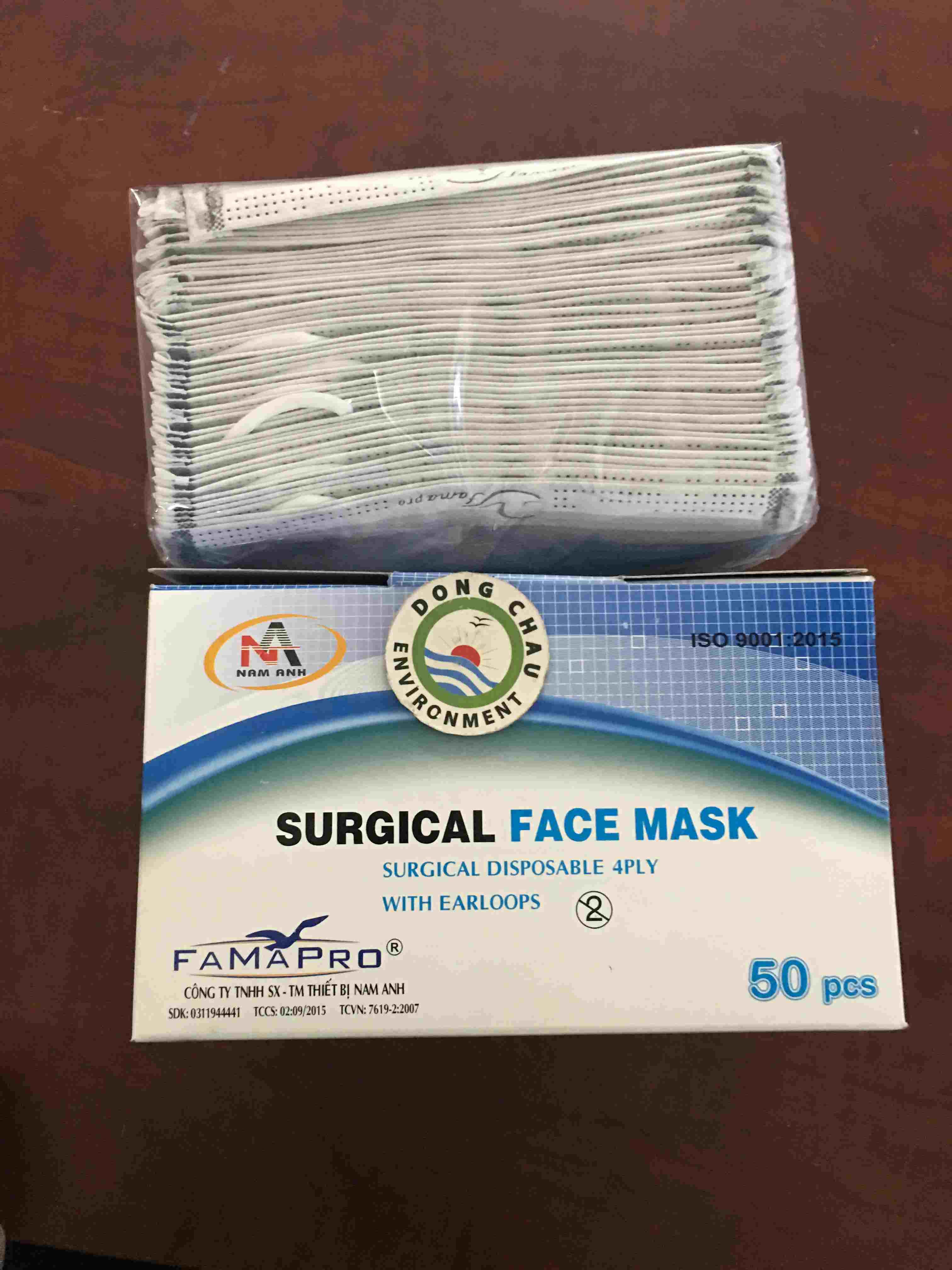 Khẩu trang hoạt tính dùng 1 lần Surgical Face Mask