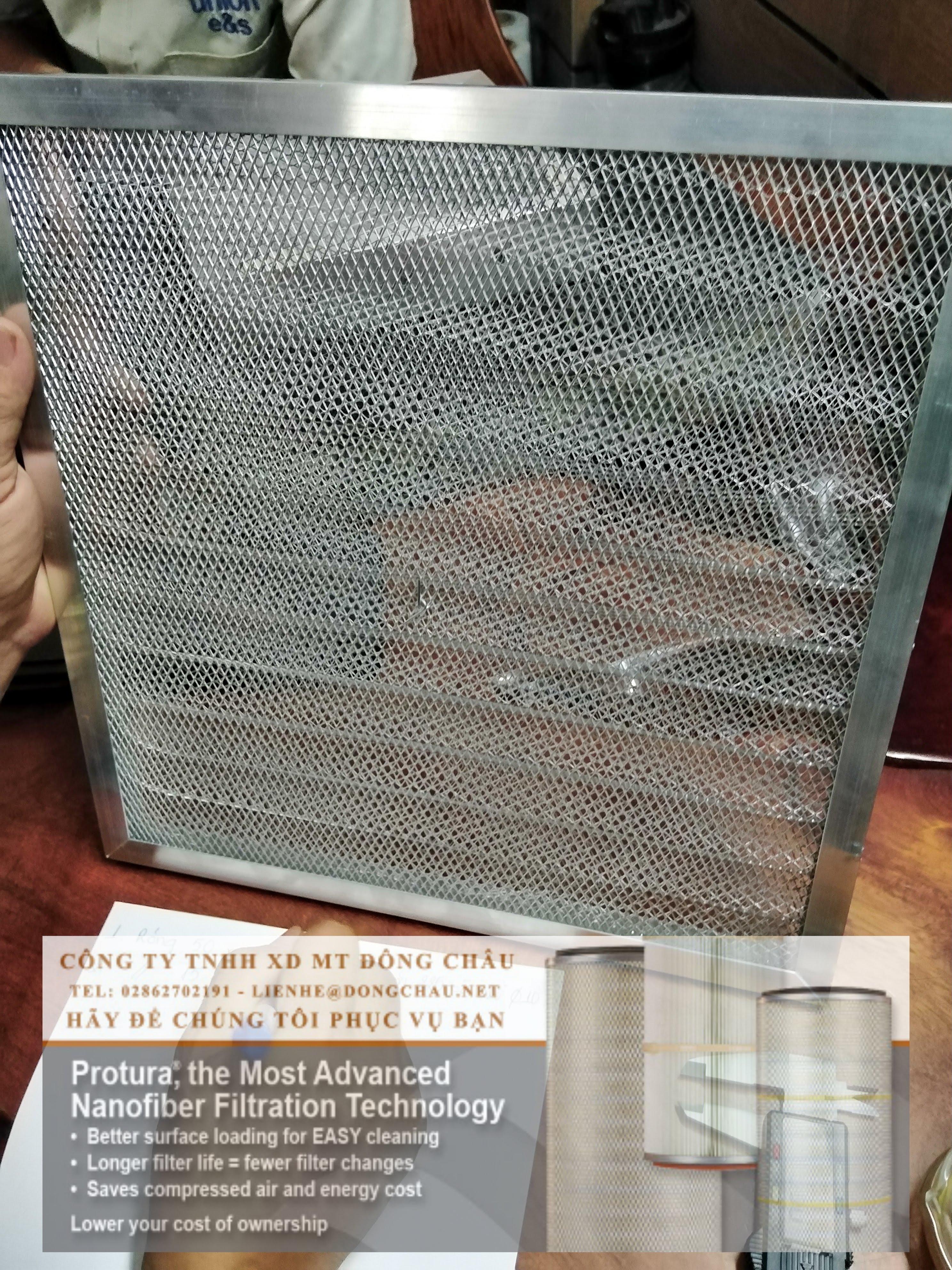 khung nhôm lọc khí dạng nhôm