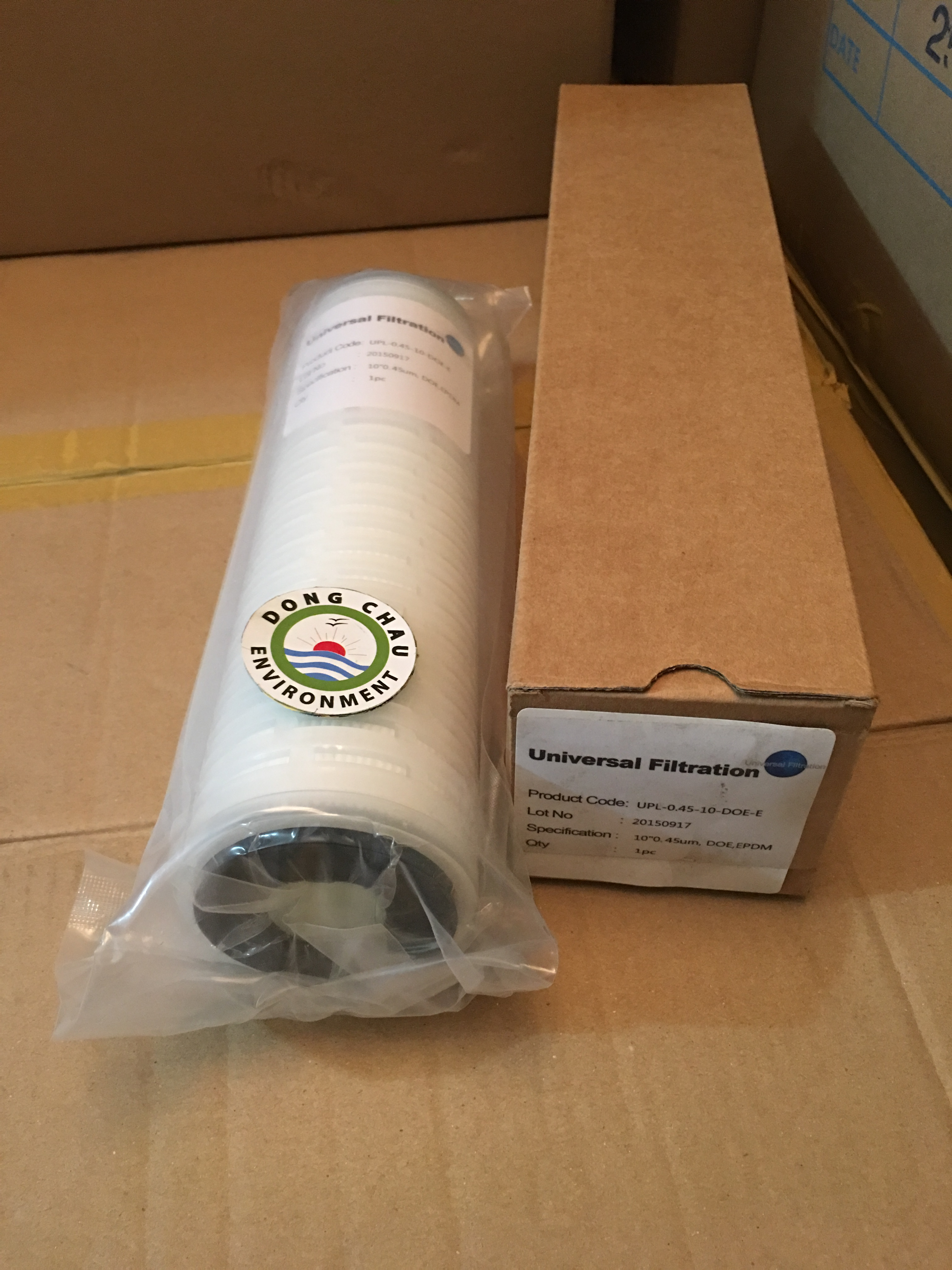 Lõi lọc giấy xếp 0.45 micron 10 inch DOE Universal Singapore