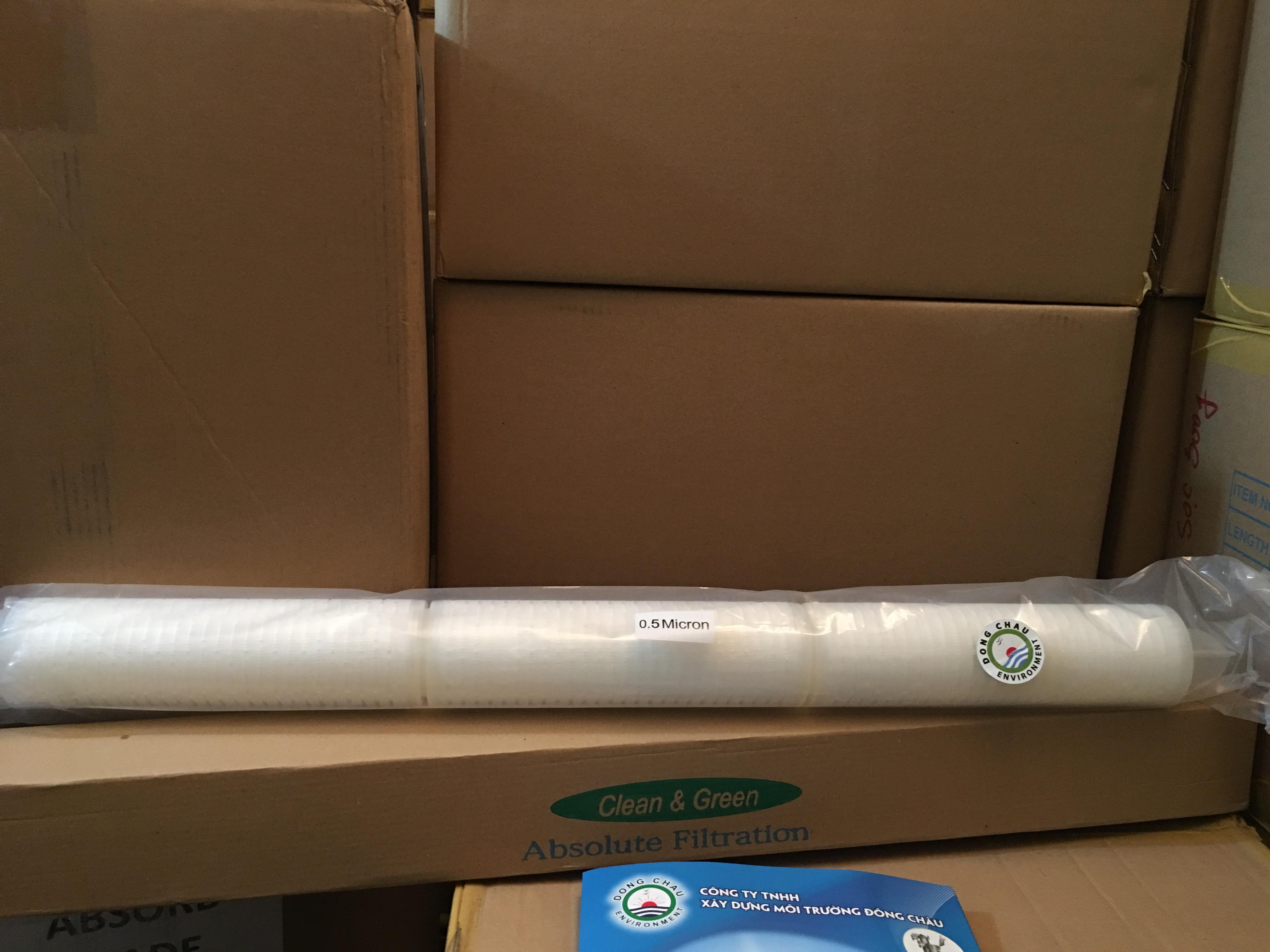 Lõi lọc giấy xếp 0.5 micron 30 inch oring 226