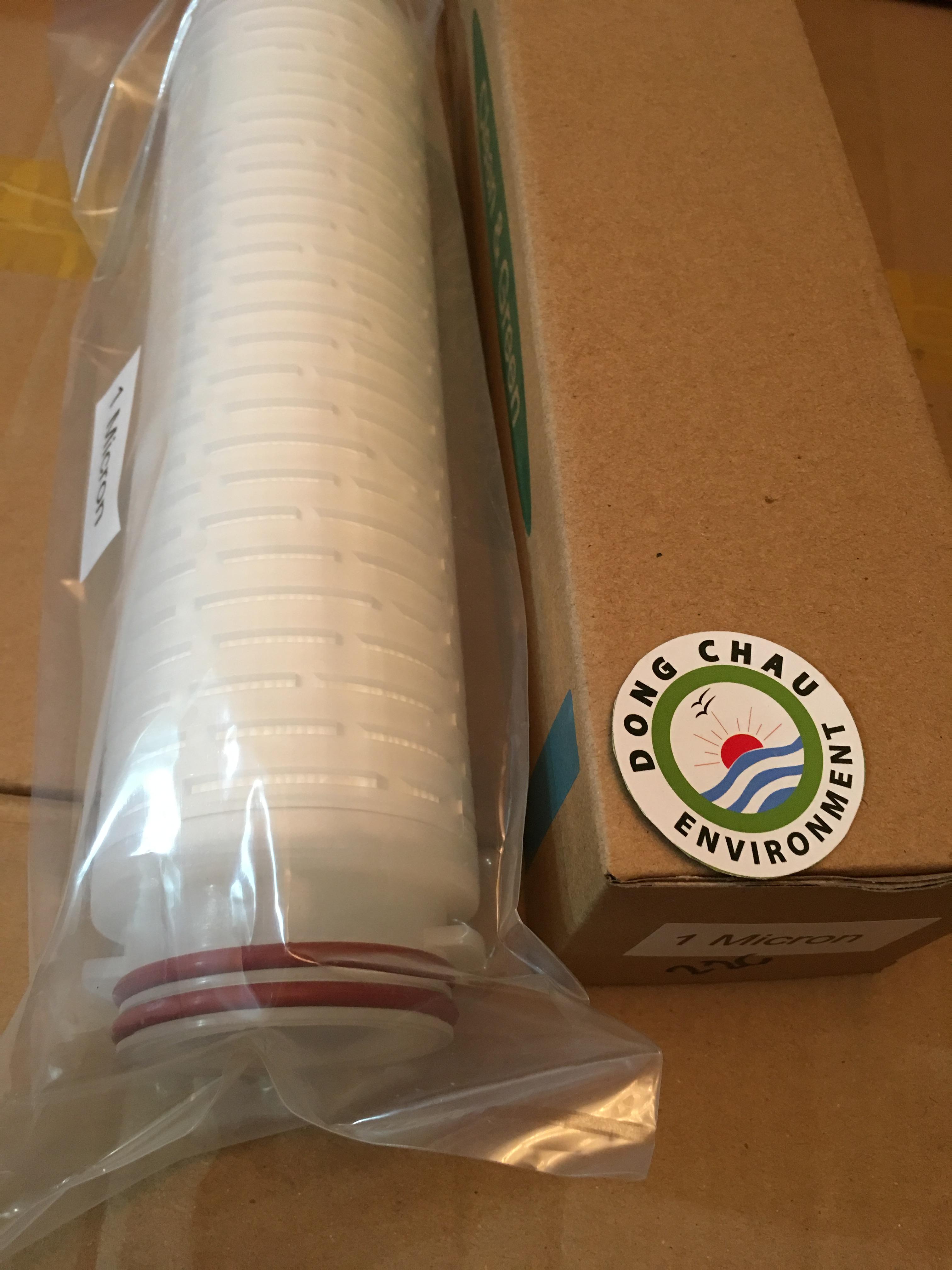 Lõi lọc giấy xếp 1 micron 10 inch Clean Green oring 226
