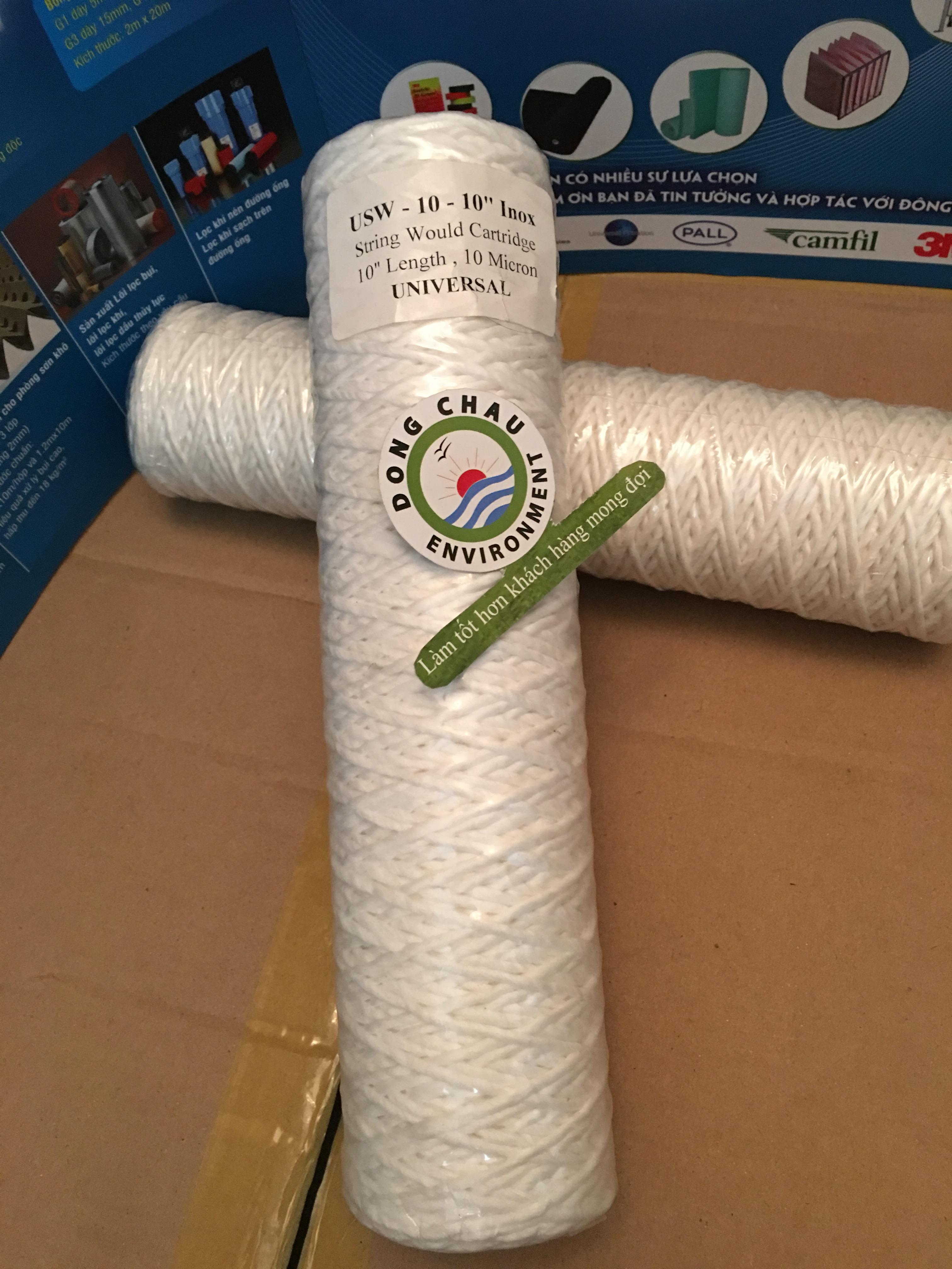 Lõi lọc sợi core inox 10 micron 10 inch