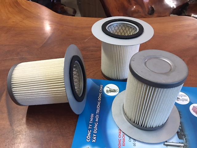 phin lọc bụi có vành được làm từ chất liệu giấy nhựa Cellulozo hoặc giấy nhựa PE