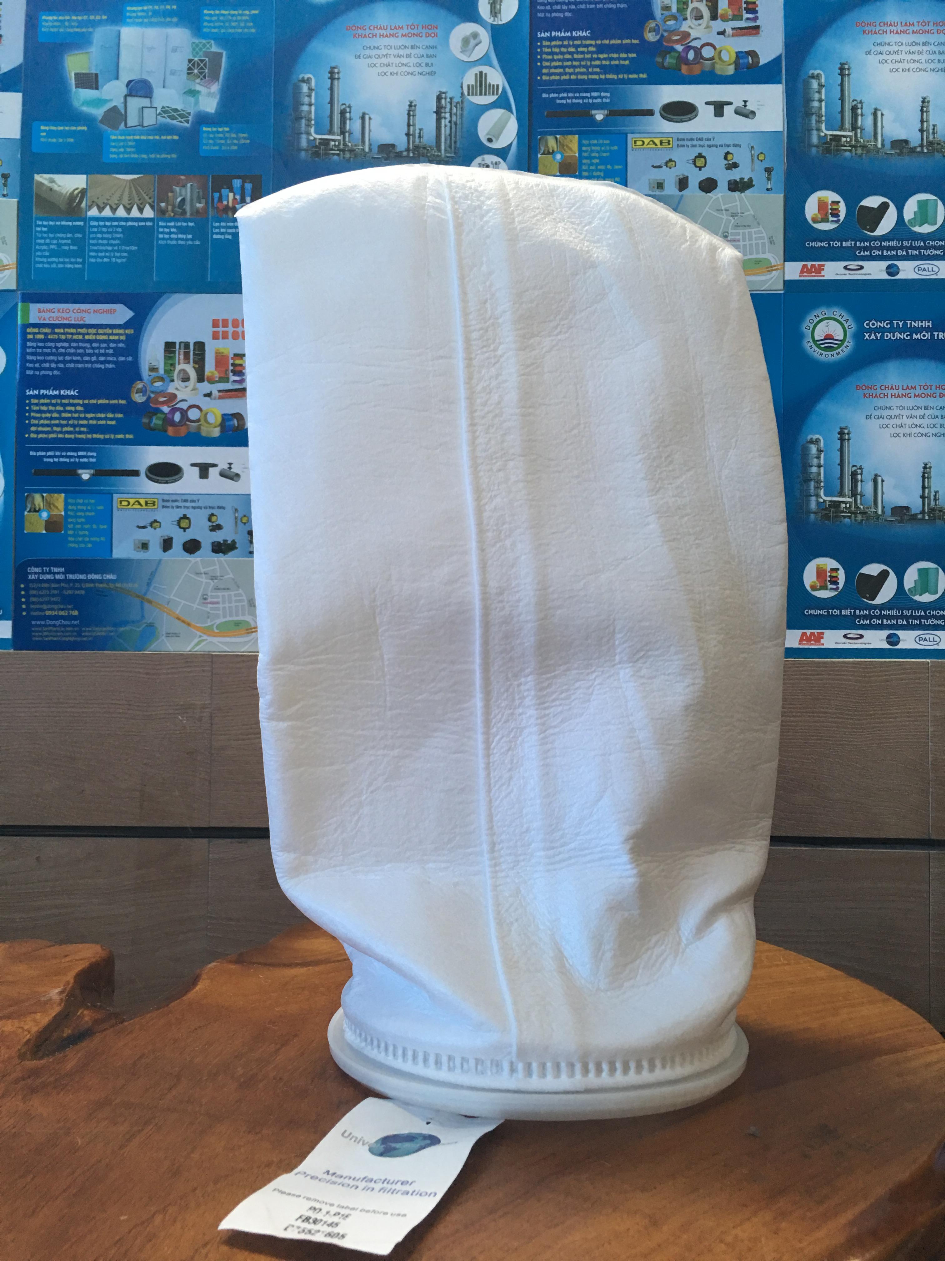Túi lọc PE 1 micron size 1 cho phép các túi lọc dễ dàng phù hợp với các rổ hỗ trợ bên trong.