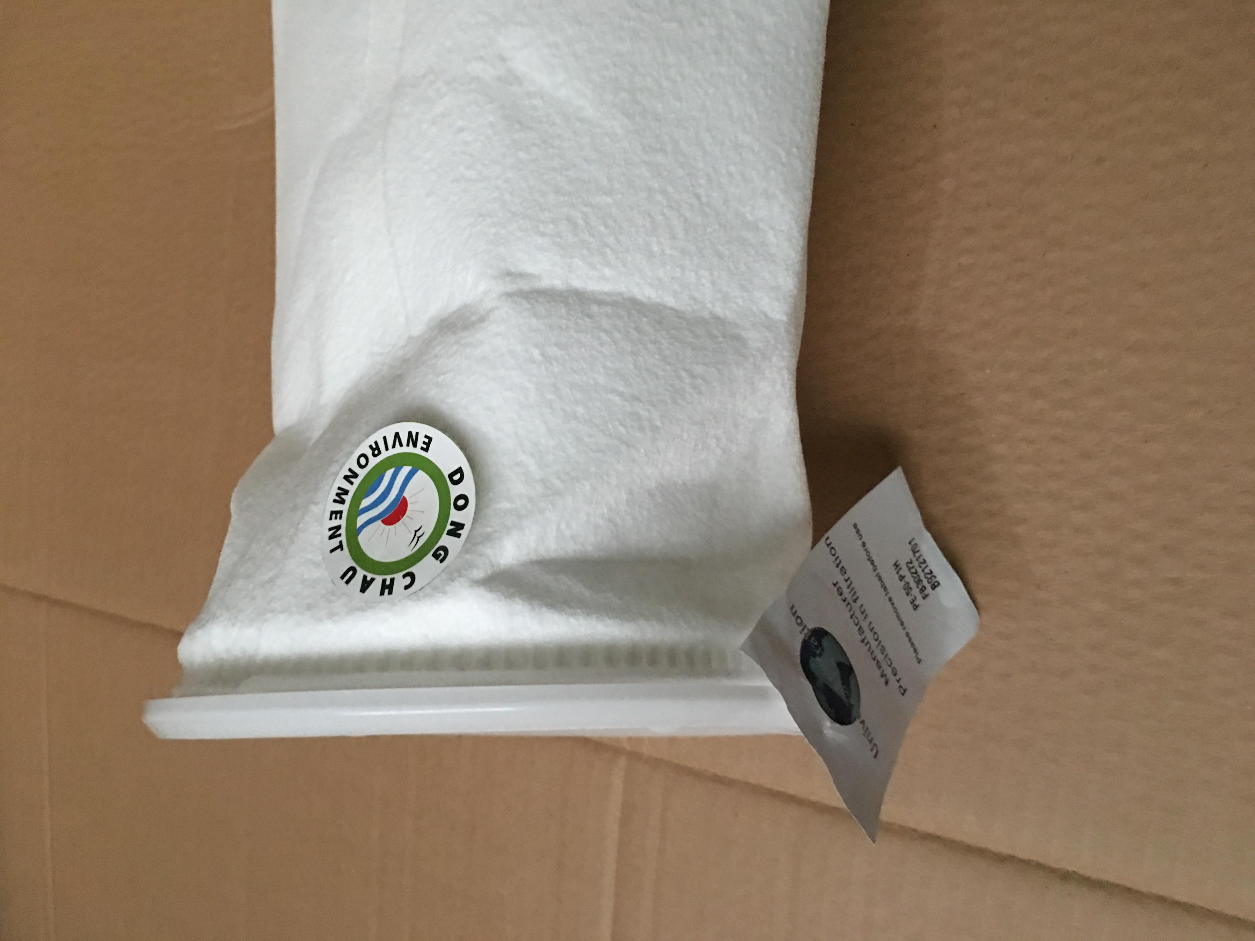 Túi lọc PE 50 micron size 1 có thể sử dụng tại nhiệt độ làm việc lên đến 130 ℃