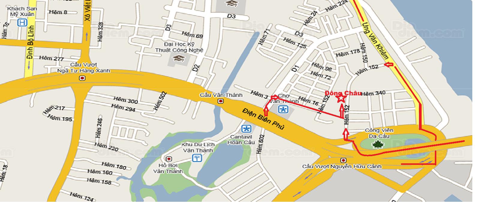 bản đồ hướng dẫn đến văn phòng